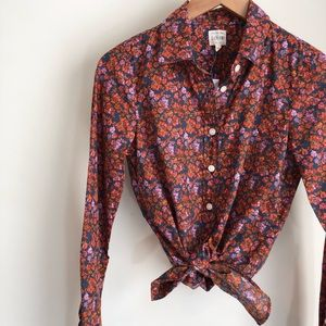 NWT J.Crew perfect floral button down❤️